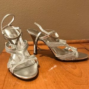 Silver Rampage Strappy High Heels